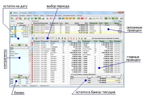 навигация и управление в xBalance